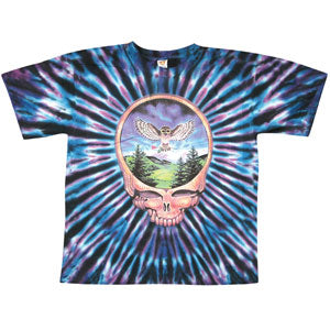 Steal Your Face Owl Tie Dye T-shirt