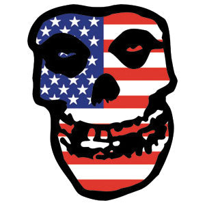 US Skull Sticker
