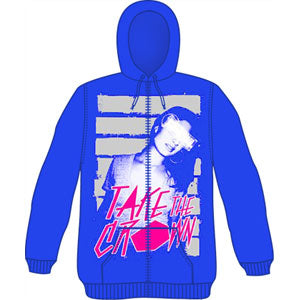 Take The Crown 80's Girl Zippered Hooded Sweatshirt