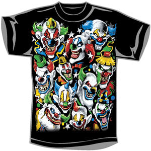 Colored Clowns T-shirt