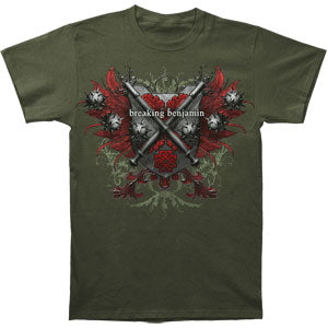 Red Leaf Crest Slim Fit T-shirt