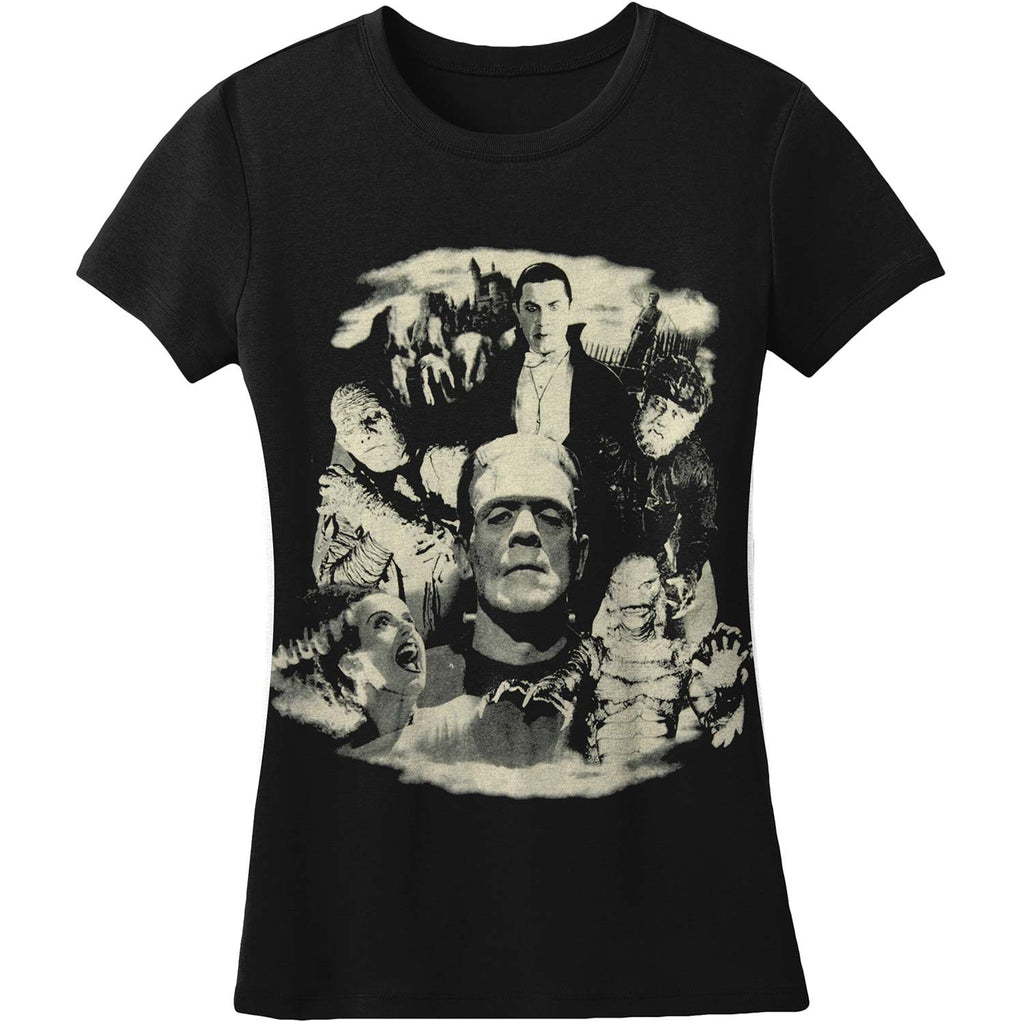Monster Collage by Rock Rebel Women's Tee Junior Top