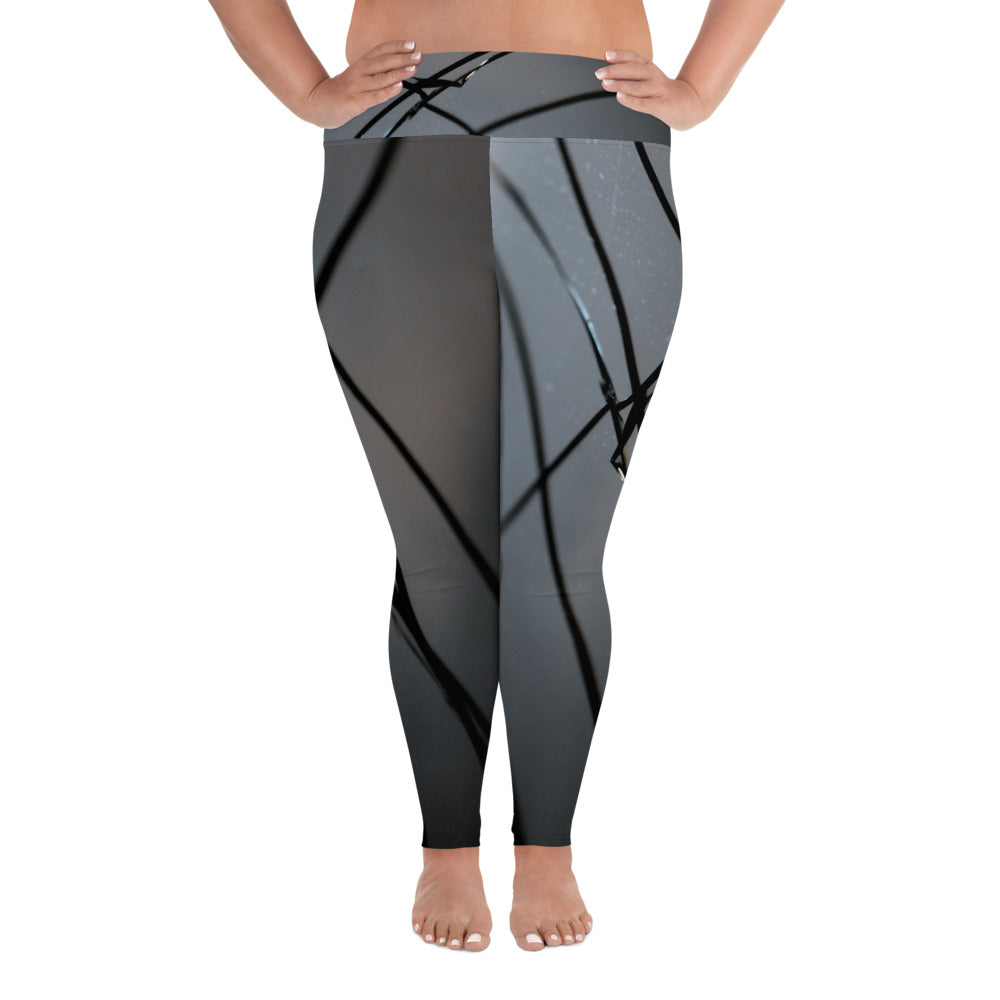 Broken Glass Plus Size Leggings - Aly Pictured It