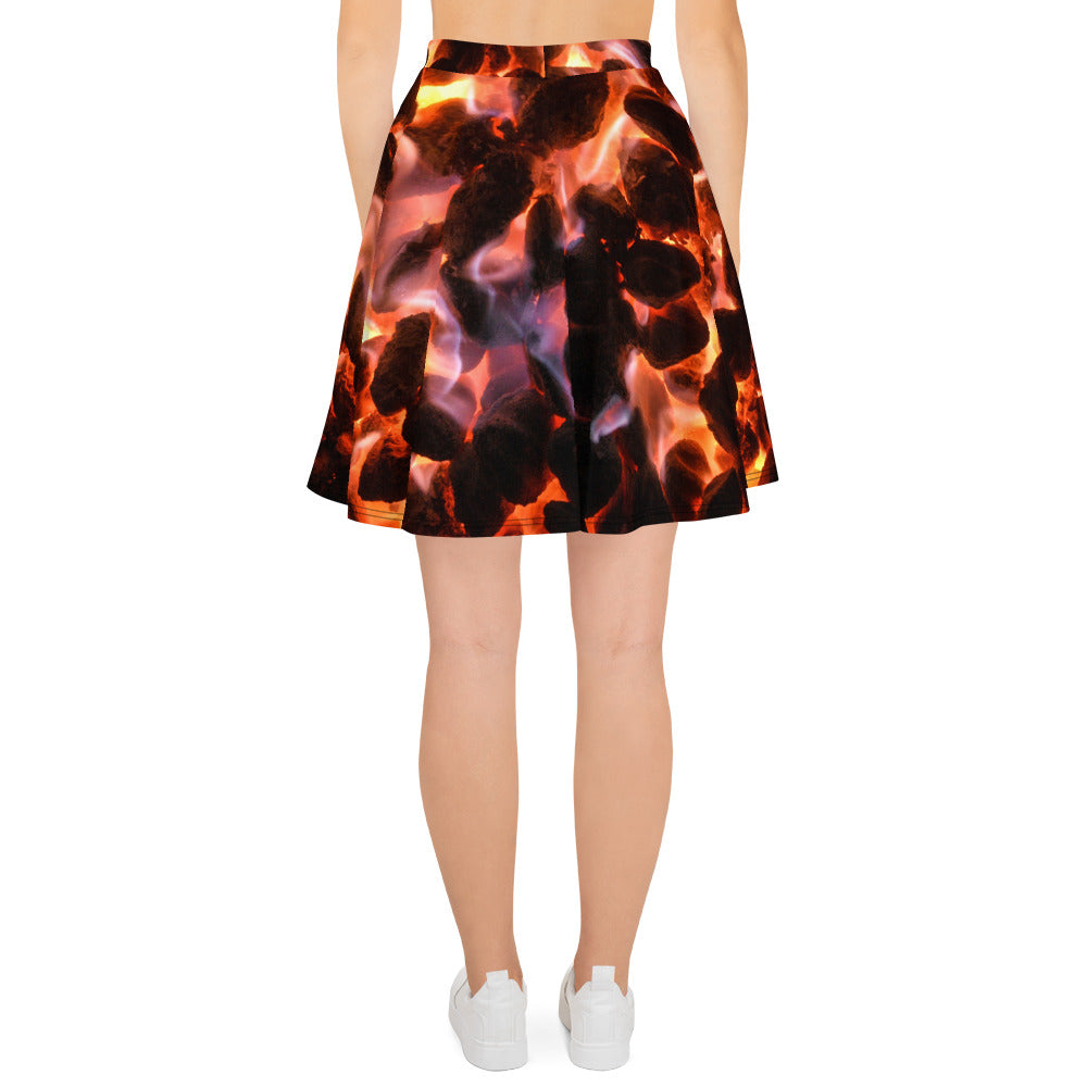 Glowing Embers Skater Skirt - Aly Pictured It