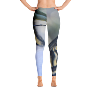 Yellow Butterfly Leggings - Aly Pictured It