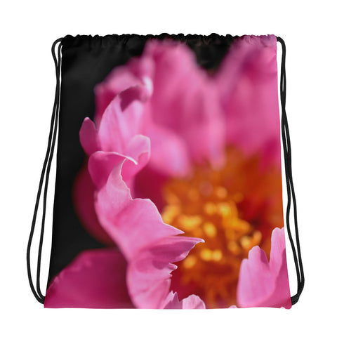 Pink Petals Drawstring Bag - Aly Pictured It