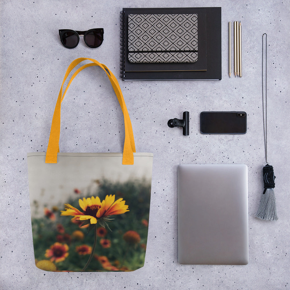 Yellow Flower Tote - Aly Pictured It