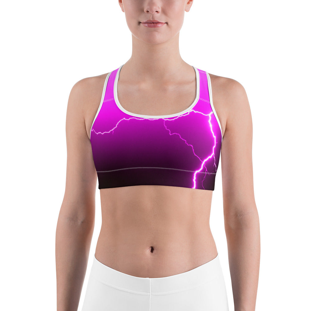 Pink Lightning Sports Bra - Aly Pictured It