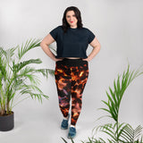 Glowing Embers Plus Size Leggings - Aly Pictured It