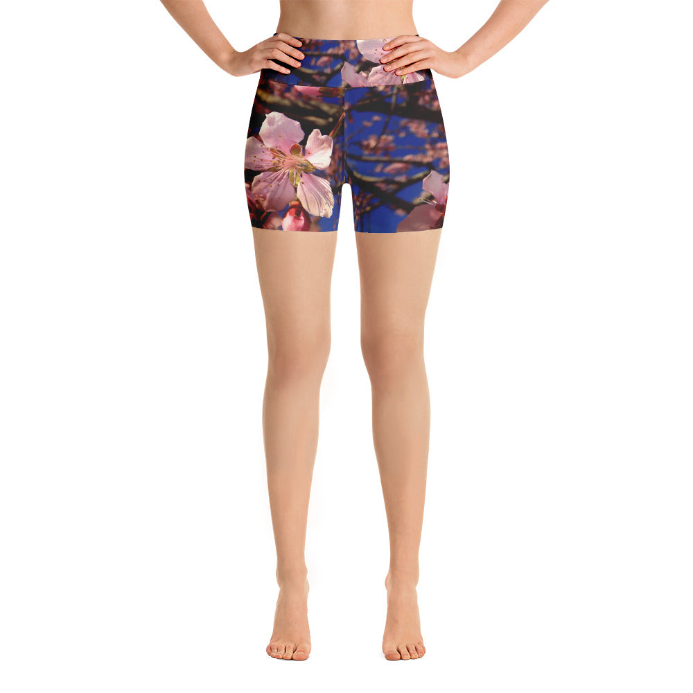 Spring Blossoms Yoga Shorts - Aly Pictured It