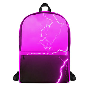 Pink Lightning Laptop Backpack - Aly Pictured It
