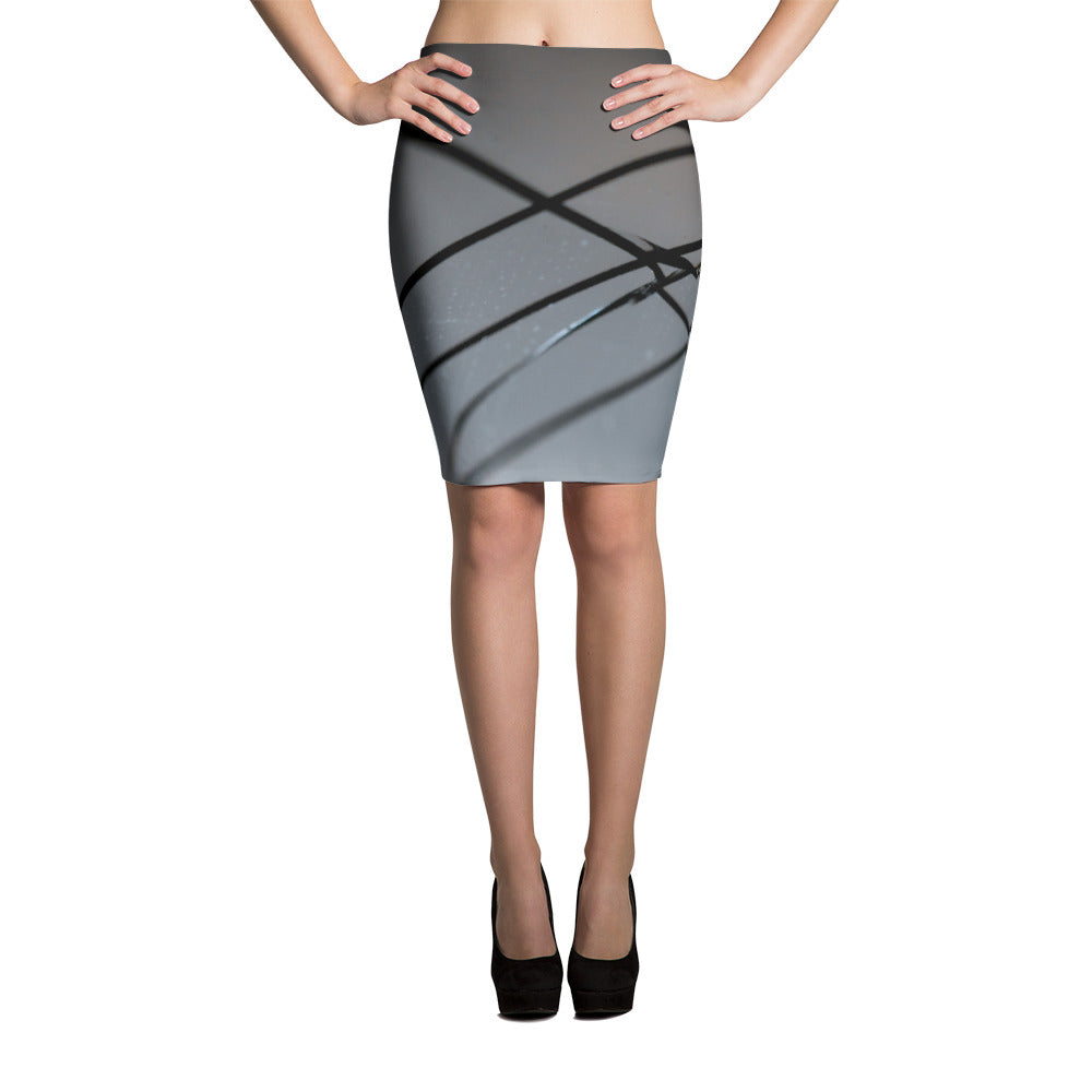 Broken Glass Pencil Skirt - Aly Pictured It
