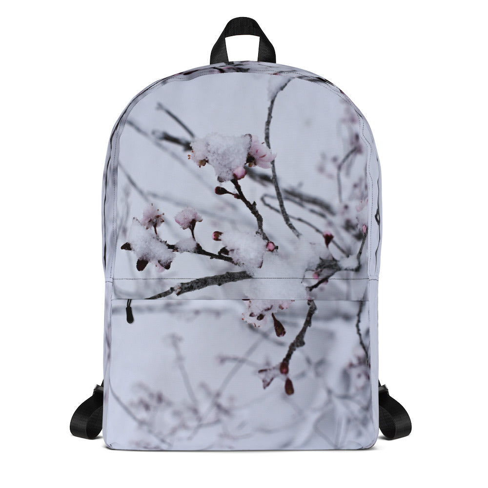 Snow Flower Laptop Backpack - Aly Pictured It