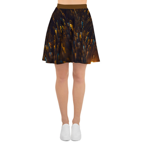 Squiggle Pattern Skater Skirt - Aly Pictured It