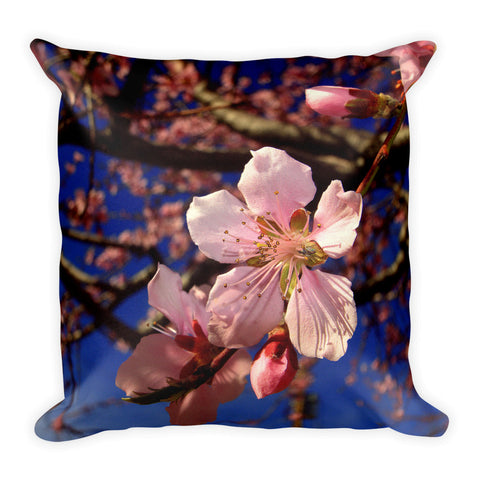 Spring Blossoms Square Pillow - Aly Pictured It