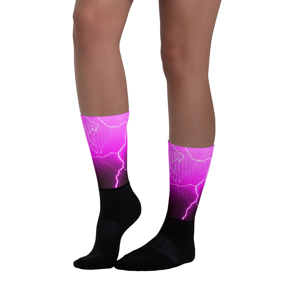 Pink Lightning Socks - Aly Pictured It