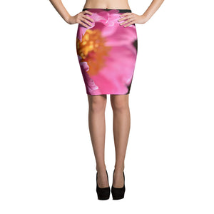Pink Petals Pencil Skirt - Aly Pictured It