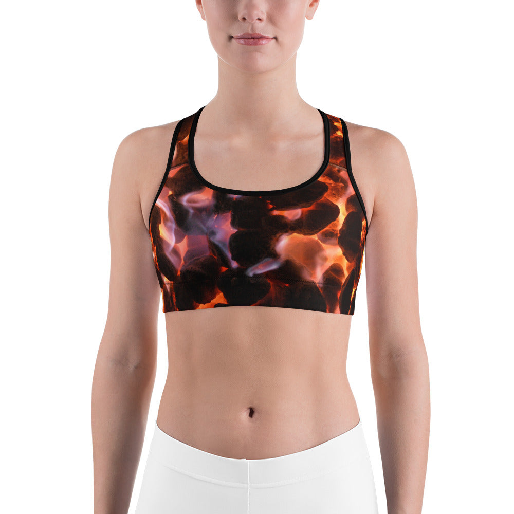 Glowing Embers Sports Bra - Aly Pictured It