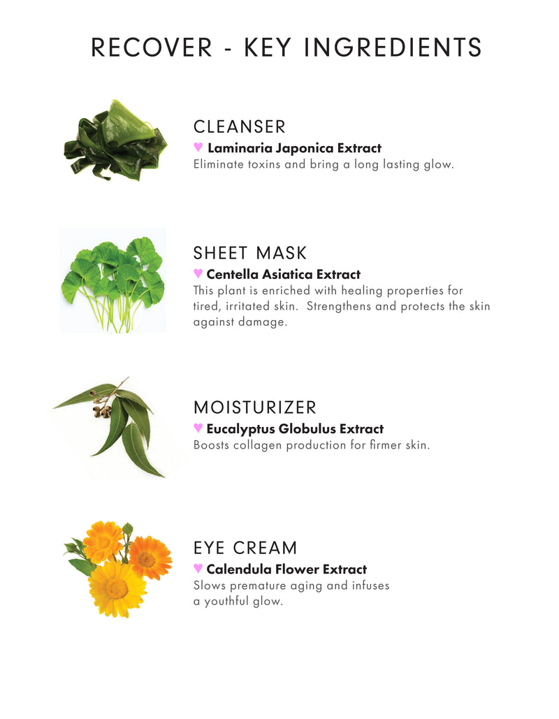 Glam+Recover 4-Step Facial Combo Pack