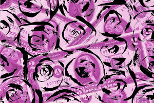 Silk Scarf Fallen Rose Collaboration