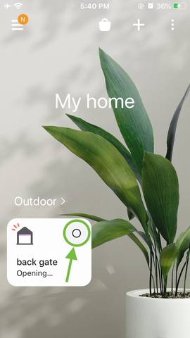 Open garage door SmartThings