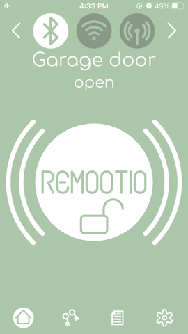 Remootio app gate open