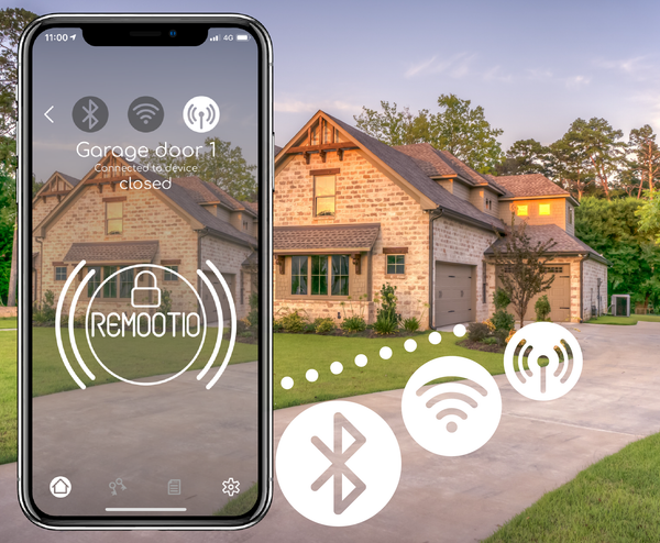 Remootio connects to garage door