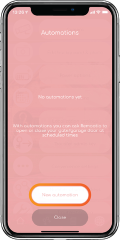 Add a new automatic opening or closing