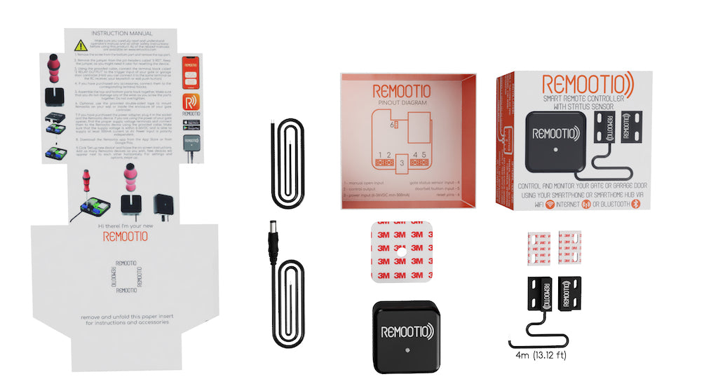 remootio package contents