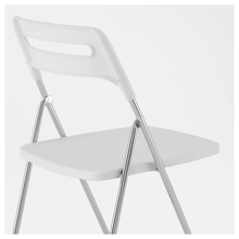 Load image into Gallery viewer, NISSE Folding chair, high-gloss white, chrome-plated