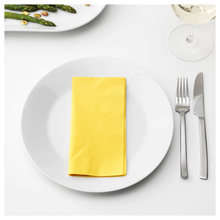 Load image into Gallery viewer, FANTASTISK Paper napkin, yellow, pack of 50