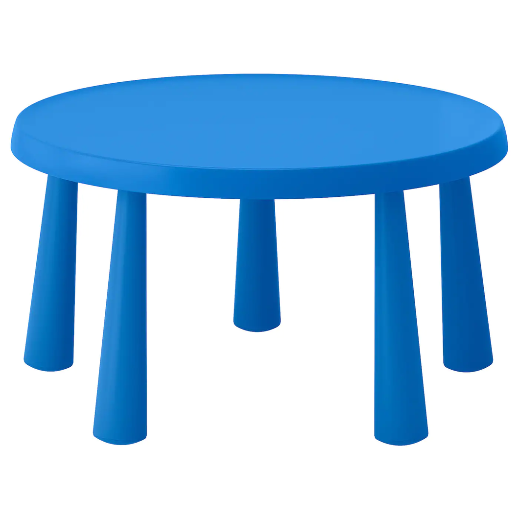 MAMMUT Children's table, in/outdoor blue, 77x55 cm