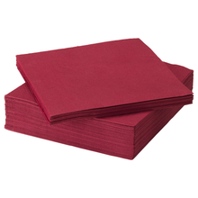 Load image into Gallery viewer, FANTASTISK Paper napkin, dark red, pack of 50