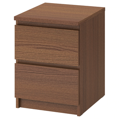 MALM Chest of 2 drawers, 40x55 cm