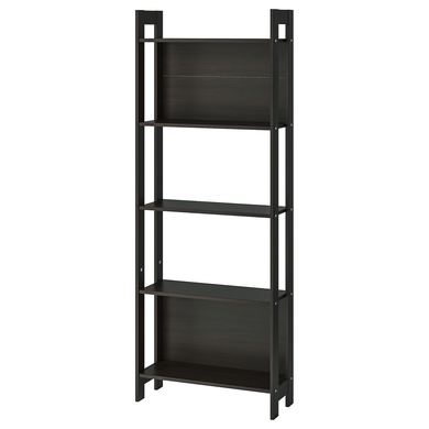 LAIVA Bookcase, black-brown