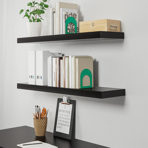 LACK Wall shelf, black