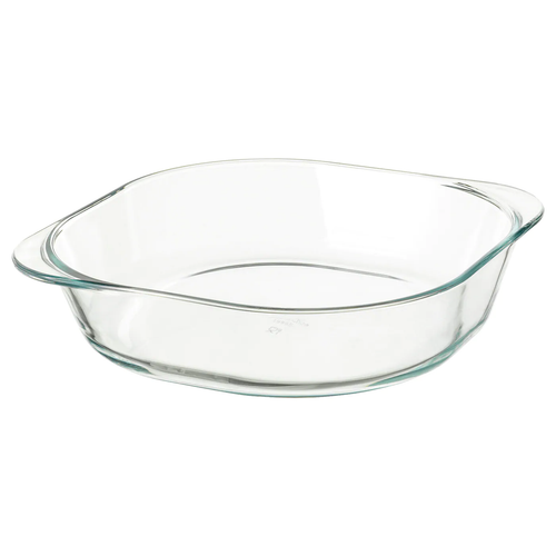 FÖLJSAM Oven dish, clear glass