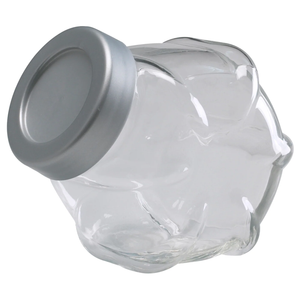 FÖRVAR Jar with lid, glass, 1.8 l