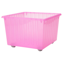 Load image into Gallery viewer, VESSLA Storage crate with castors, light pink, 39x39 cm
