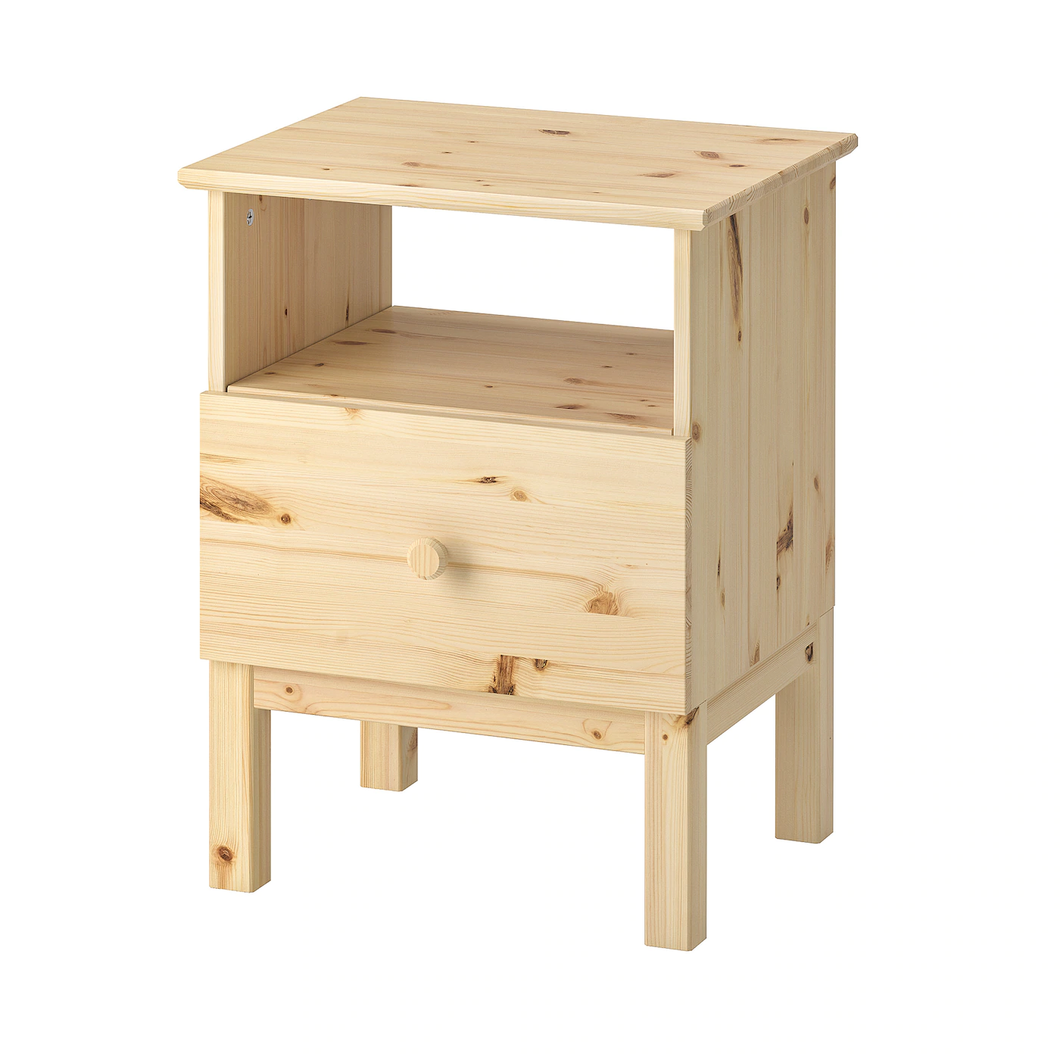 TARVA Bedside table solid pine