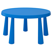 Load image into Gallery viewer, Children's table with two stools