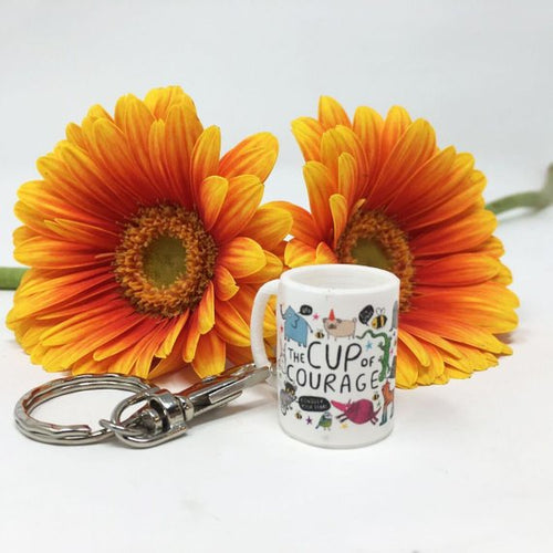Katie Abey Mini Cup of Courage Keyring Old Fire Station