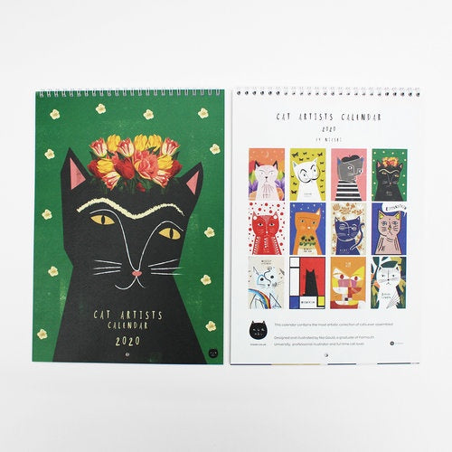Niaski Artist Cat 2020 Wall Calendar Shop at the Old Fire Station