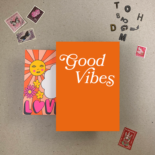 Imogen Owen 1970's Good Vibes Card