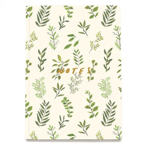 Old English Company 'Foliage' Linen Notebook Old Fire Station