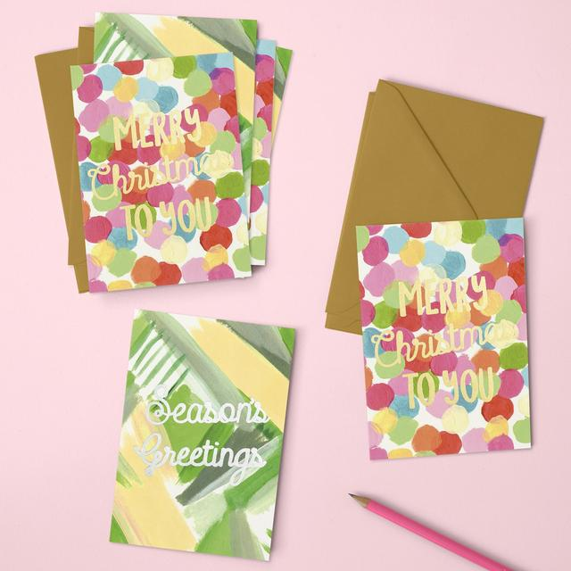 Raspberry Blossom 'Merry Christmas to You' and 'Seasons Greetings' Chrismas Pack
