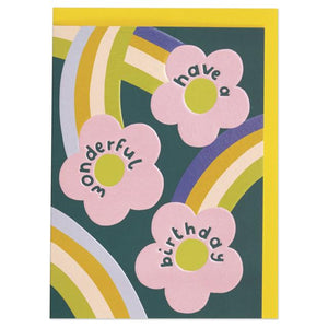 Raspberry Blossom 'Good Vibes' Greeting Card - Shop at the Old Fire Station