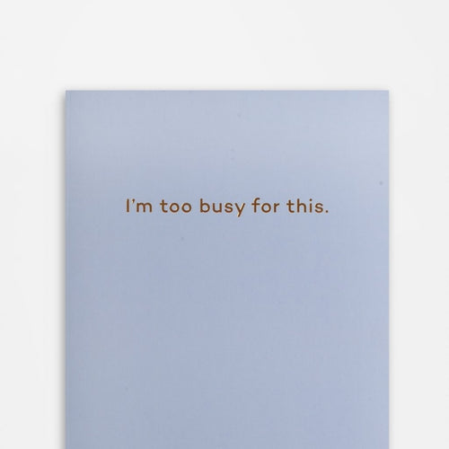 'I'm Too Busy for This' - Mean Mail A5 Notebook - Shop at the Old Fire Station