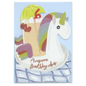 Raspberry Blossom 'Pop' Die Cut and Foiled Greeting Card Old Fire Station