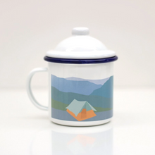 Load image into Gallery viewer, Rolfe & Wills Enamel Mug with Lid - Shop at the Old Fire Station
